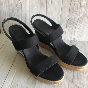 TORY BURCH 2 strap espadrille wedges US 10